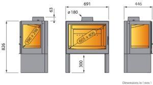 Medidas de estufa L-71